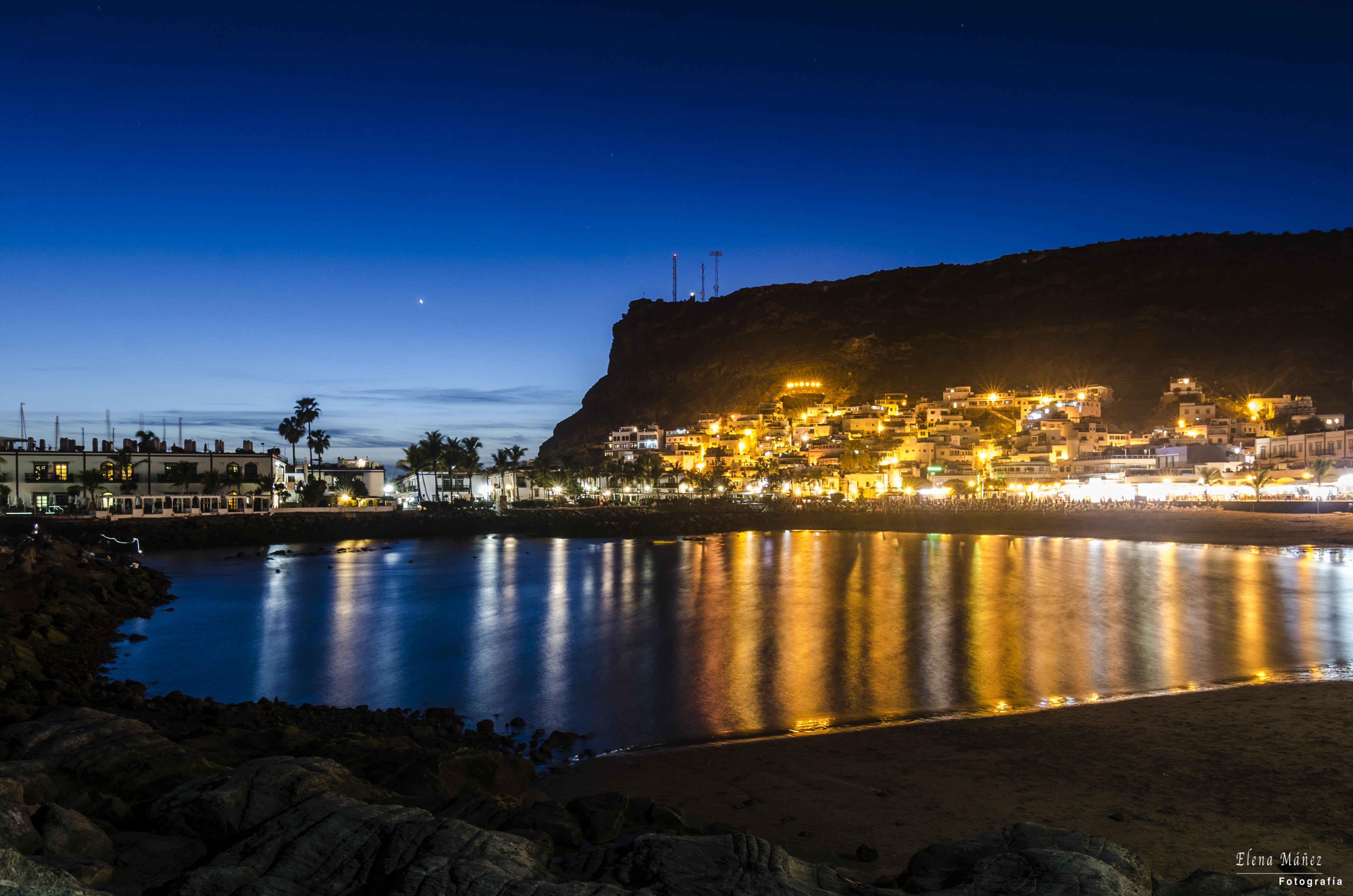 puerto de mogán noche 1
